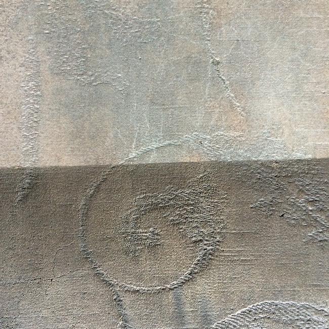 Bronze moulé sur tissu